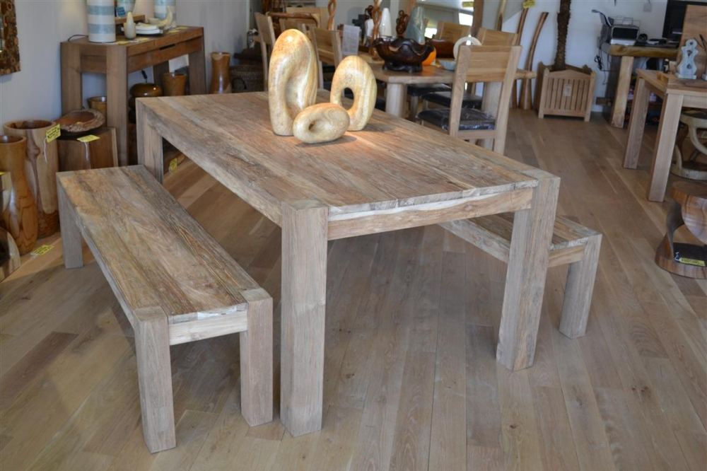 Rustic Dining Table Benches
