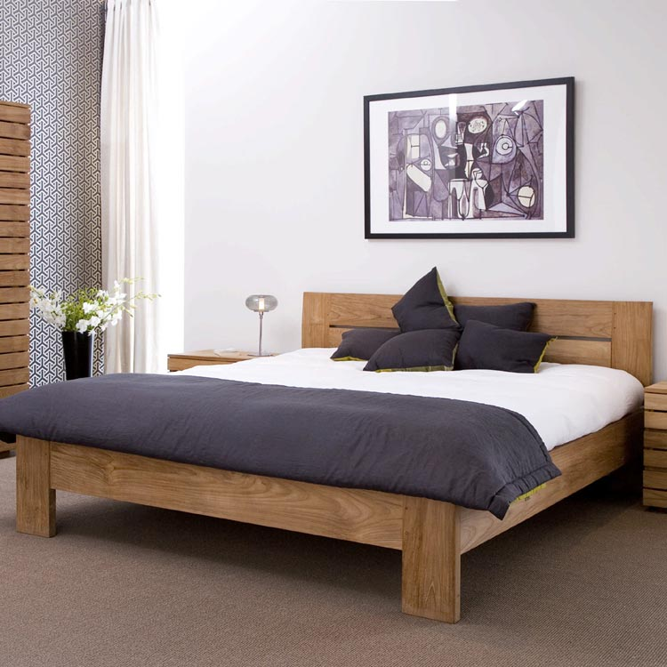 Bed with headboard. teak furniture   custom made   Khao Lak Home Design