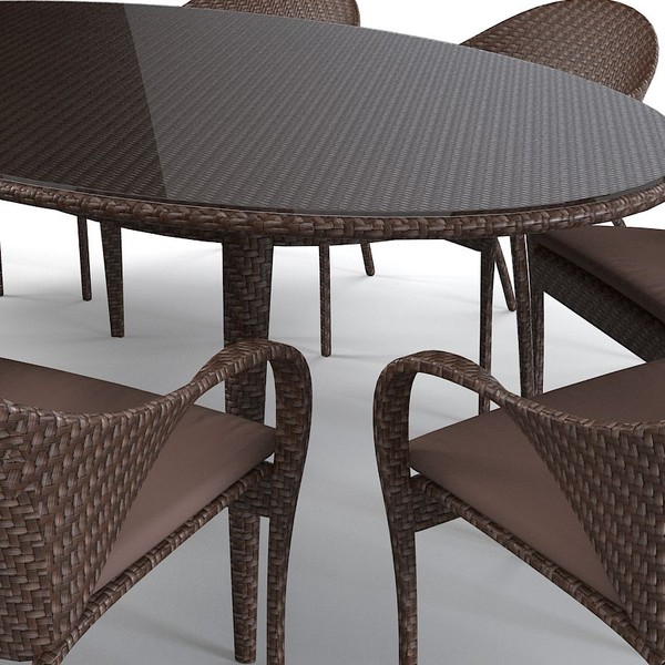 Lombok Dining Table With Gl Top